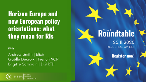 Roundtable session on Horizon Europe and new European policy orientations: what they mean for RIs