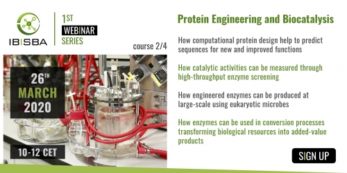 IBISBA Second Webinar Course on Protein Engineering and Biocatalysis